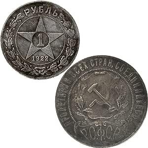 Moneta Colección 1 rublo ruso 1922 comunismo Replica Metal