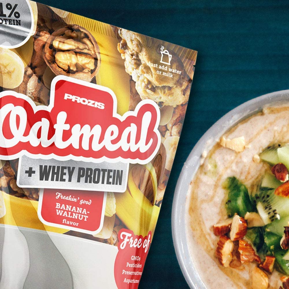 Prozis Oatmeal con Whey Protein 1000g - Cereales Repletos ...