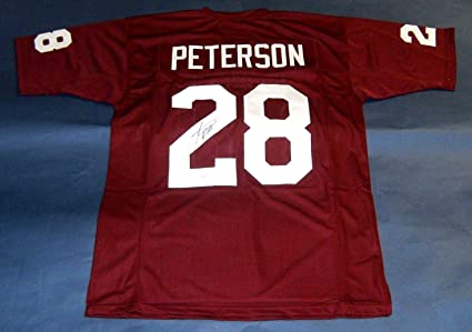 best website 6252a a8256 Adrian Peterson Autographed Jersey - Ou - JSA Certified ...