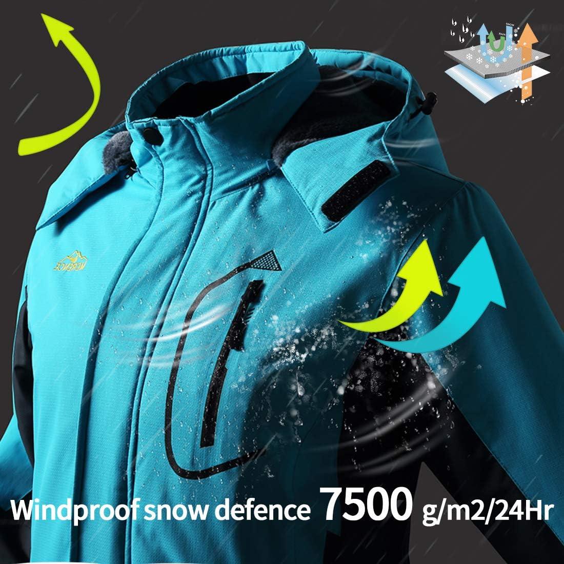 Women's Mountain Waterproof Ski Jacket Windproof Rain Jacket Blue