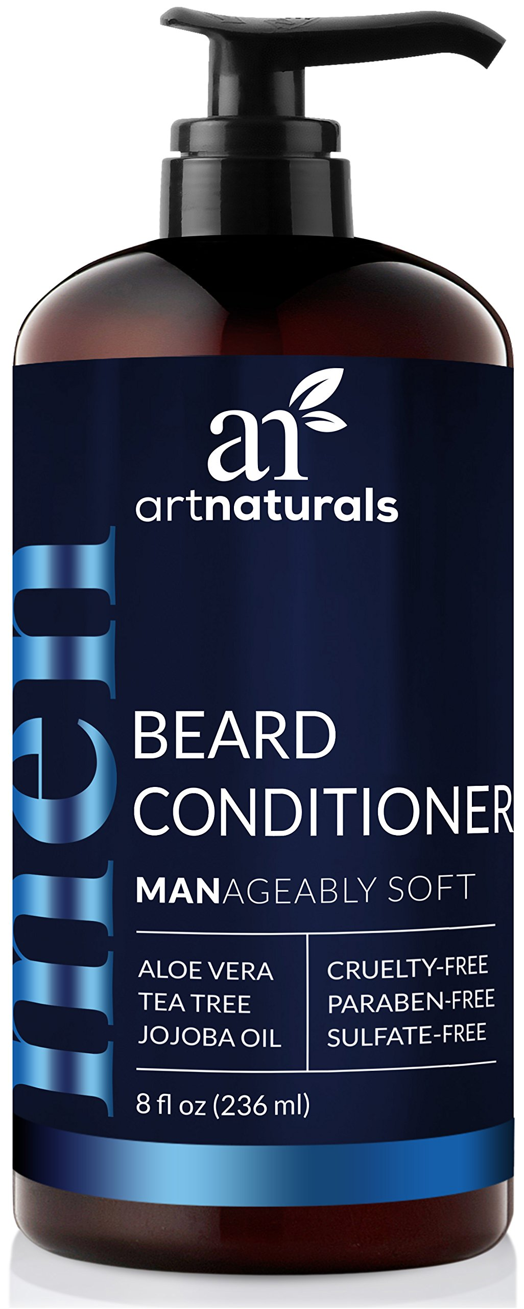 ArtNaturals Natural Beard Deep Conditioner - (8 Fl Oz/236ml) - Infused with Aloe Vera, Tea Tree and Jojoba Oil - Sulfate Free