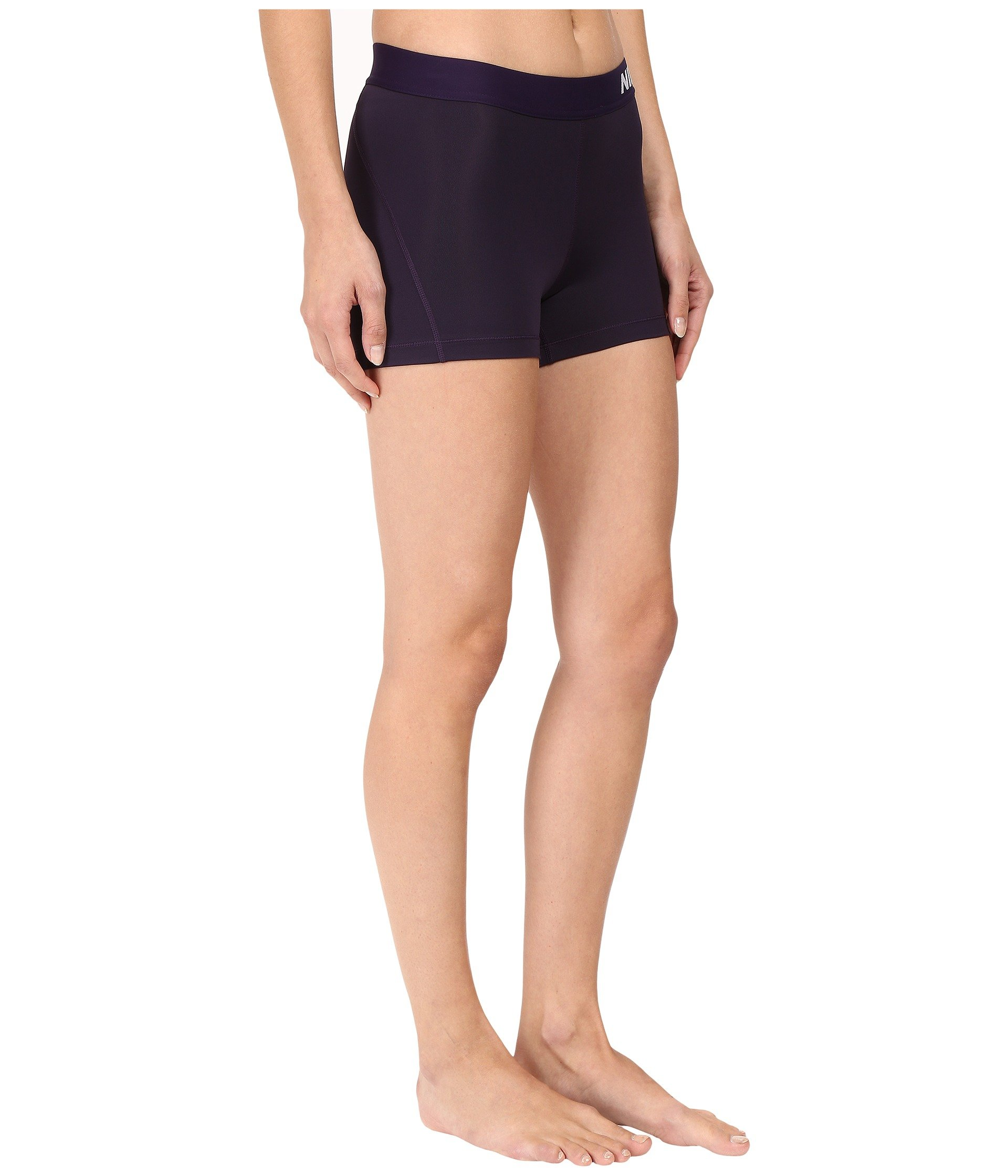 Nike Women's Pro Cool 3-Inch Training Shorts (Purple Dynasty/Bleached Lilac/X-Small) by Nike (Image #5)