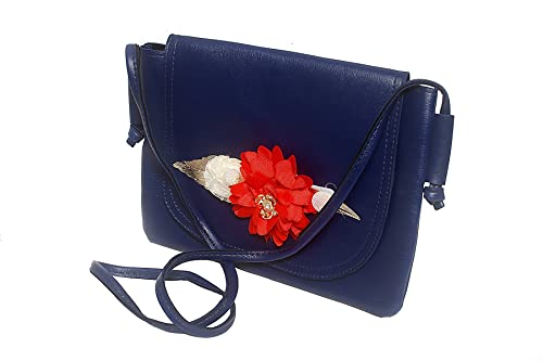 68ab01f7fa3 Rambha Sling Bags/Pocket Sling/Side Bag/Cross Body Purse/Shoulder/Casual Bag  with Adjustable Strap For Women And Girls-Navy Blue Color: Amazon.in: Shoes  & ...