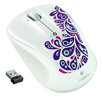 fc348911ee8 Logitech Wireless Mouse M325 White Paisley Radio Transfer, PC Mouse, PC/Mac,