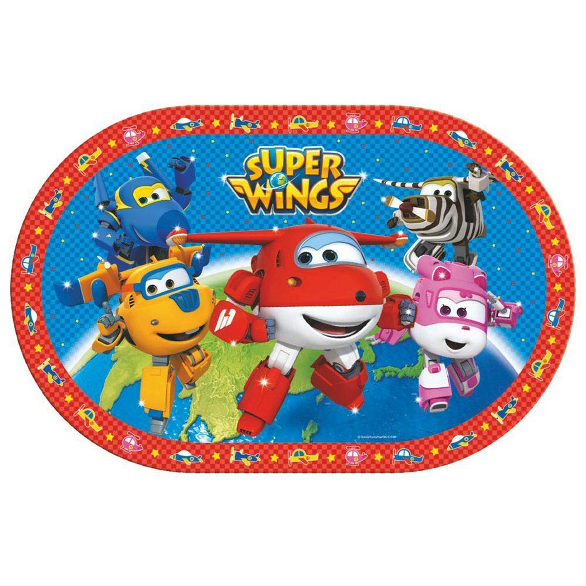 Set da pranzo per bambini Super Wings 4 pezzi in plastica