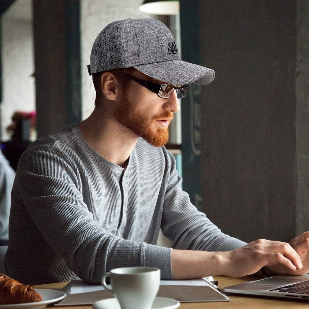 Custom Baseball Cap Cat Mom Head Embroidery Acrylic Casual Hats for Men /& Women