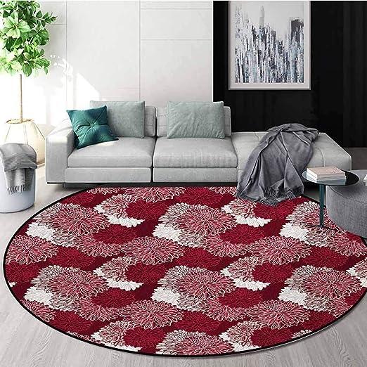 RUGSMAT - Alfombra de Felpa Suave de algodón Rojo y Negro para ...