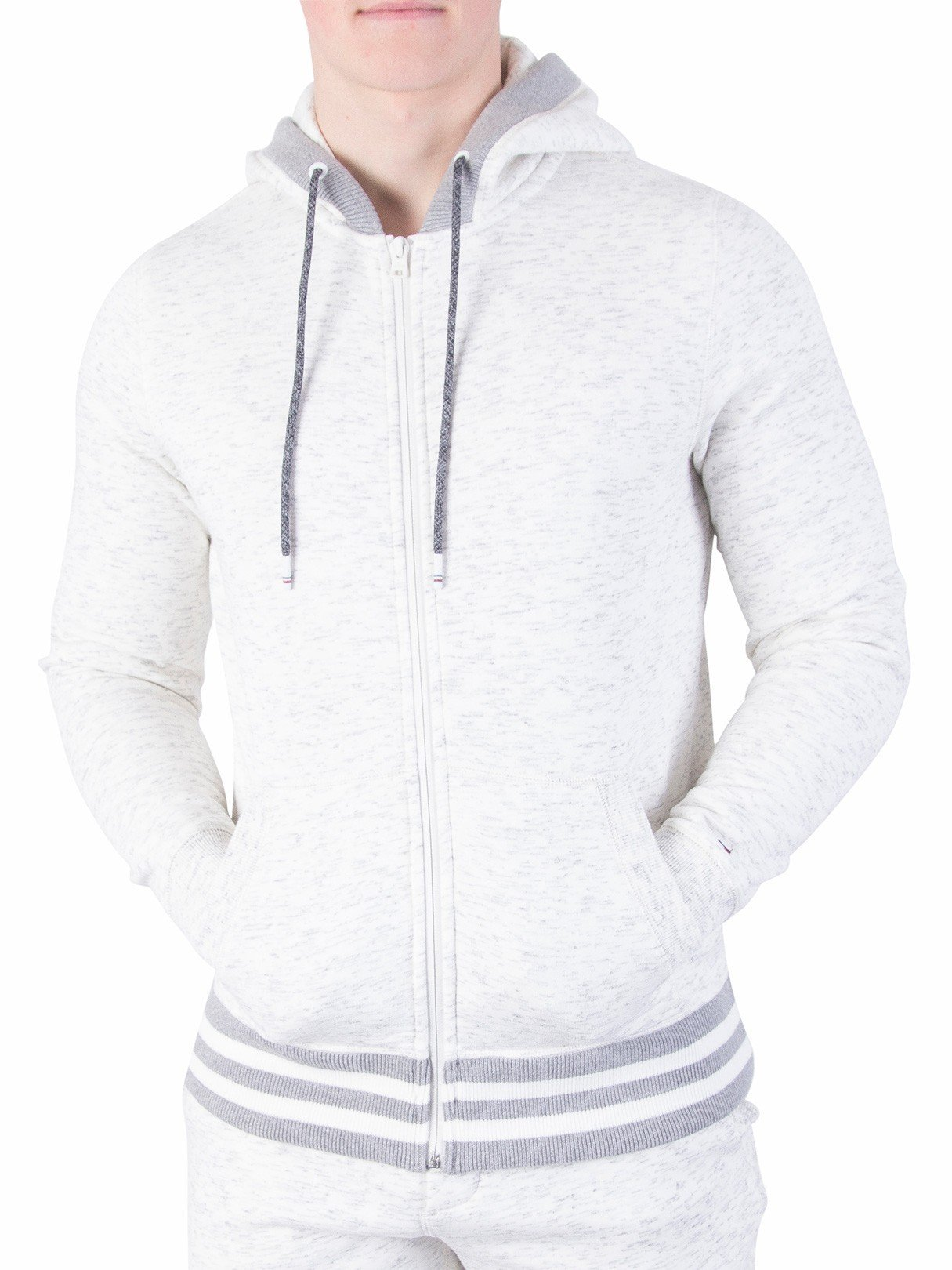 Tommy Hilfiger Men's Shaylee Zip Hoodie, White, X-Large