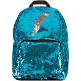 Style.Lab Magic Sequin! Reversible Turquoise to Silver Fashion Backpack, Multicolor