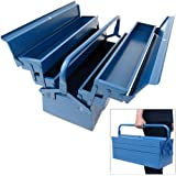Werkzeugkasten leer groß ✔ Stahl ✔ 5-teilig ✔ Deuba® - Werkzeugkoffer Werkzeugbox Werkzeugkiste Werkzeug Montage Koffer - blau - 580x220x210mm
