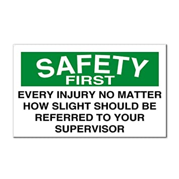 amazon every injury should be referred toスーパーバイザsafety