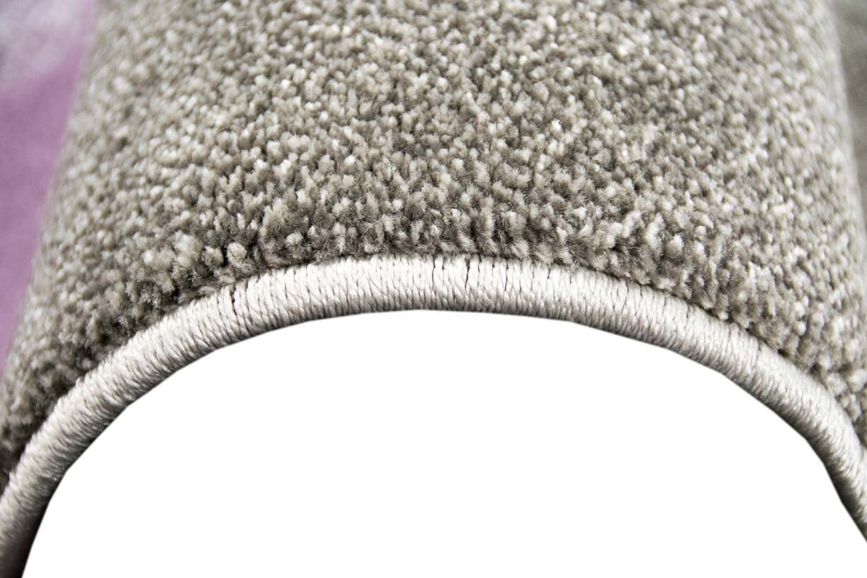Traum Designer and modern rug Pastel colors in check pattern Purple cream beige size 160x230 cm