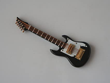 Amazon Com Miniature Black Ibanez Electric Guitar 1 12 Scale