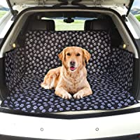 Gluckluz Pet Cargo Cover Liner Waterproof Non Slip Dog Seat Mat for Dog Cat SUV Trunk Cargo (Black, Washable Dog…
