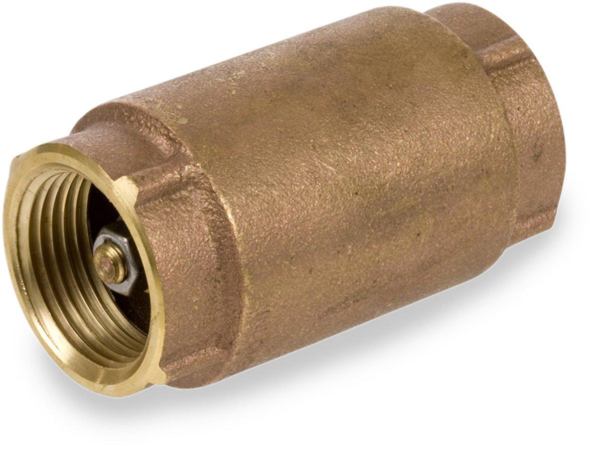 "Smith-Cooper International CV30L Series Brass Check Valve, Potable Water Service, 3/4"" NPT Female"