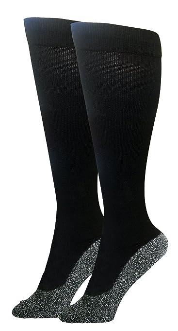 950fd60e9647a Amazon.com: 35 Below Compression Socks 1 pair in Black; Size Small ...