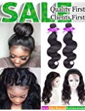 Brazilian Virgin Hair 3 Bundles Body Wave Hair Extension 100% Unprocessed Human Hair Weave 100g Hair Weft Natural Color … …