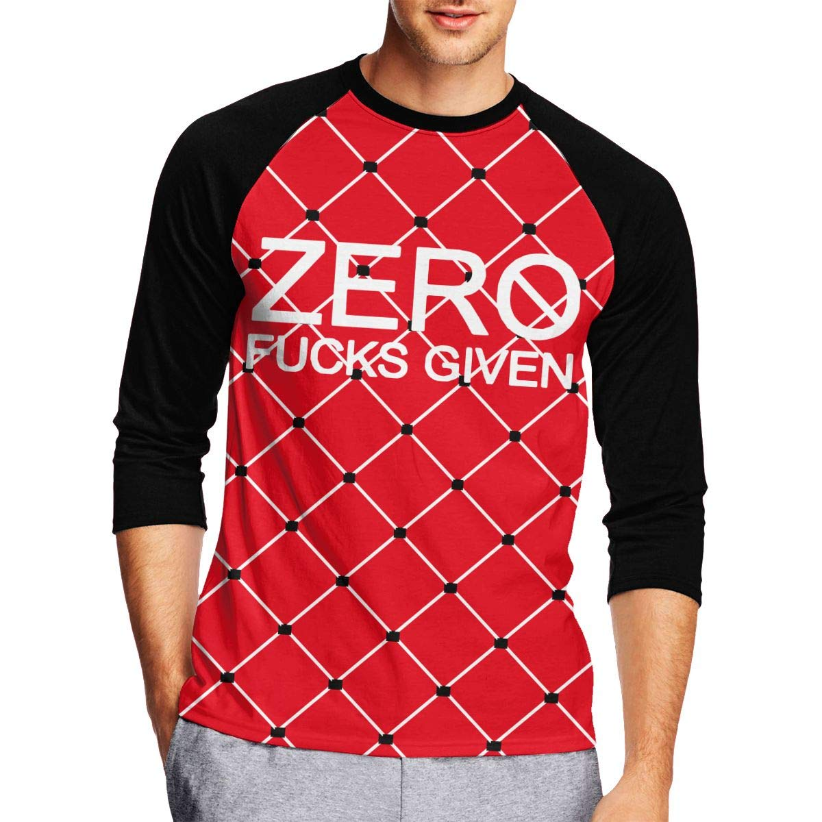 DFGHJZH-L Zero Fucks Given Mens Funny Adult Long-Sleeved T Shirts
