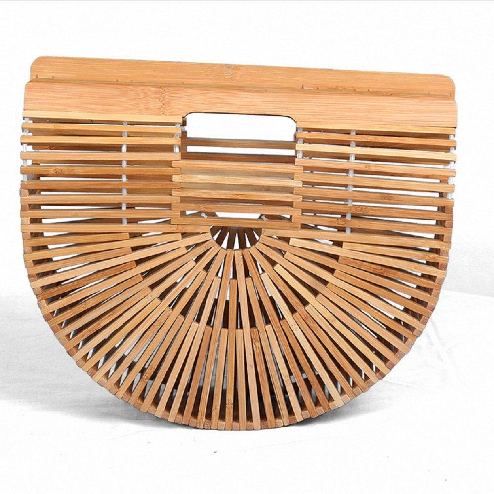 OneMoreT - Sac à main en bambou - Pour voyage, été - Pour femme s