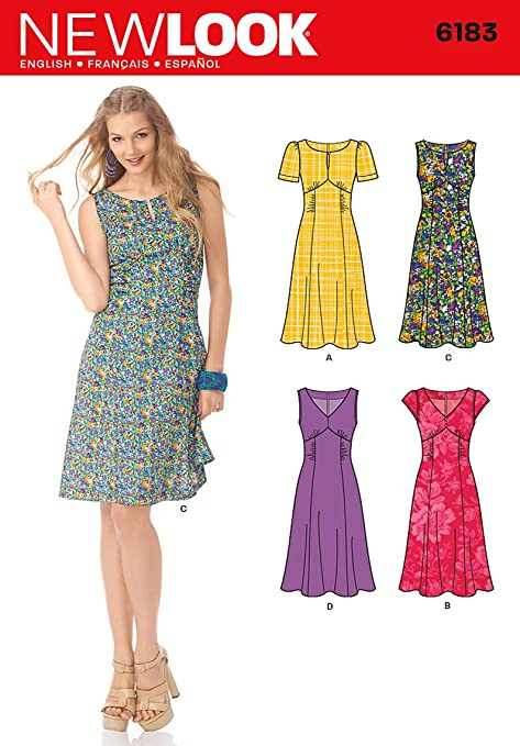 New Look Sewing Pattern 6183 - Misses\' Retro Style Dress Sizes: A ...
