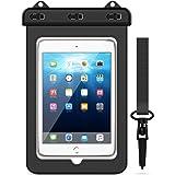 Funda Bolsa Impermeable para Tablets, Yokata Universal Waterproof Actividades al Aire Libre Se Ajusta para iPad 2/3/4, iPad Pro 9.7, iPad Air/Air 2, Samsung Galaxy Tab A 9.7, Tab E 9.6, Tab S2 9.7, Tab S3 9.7, y Otros Teléfonos Inteligentes - Negro