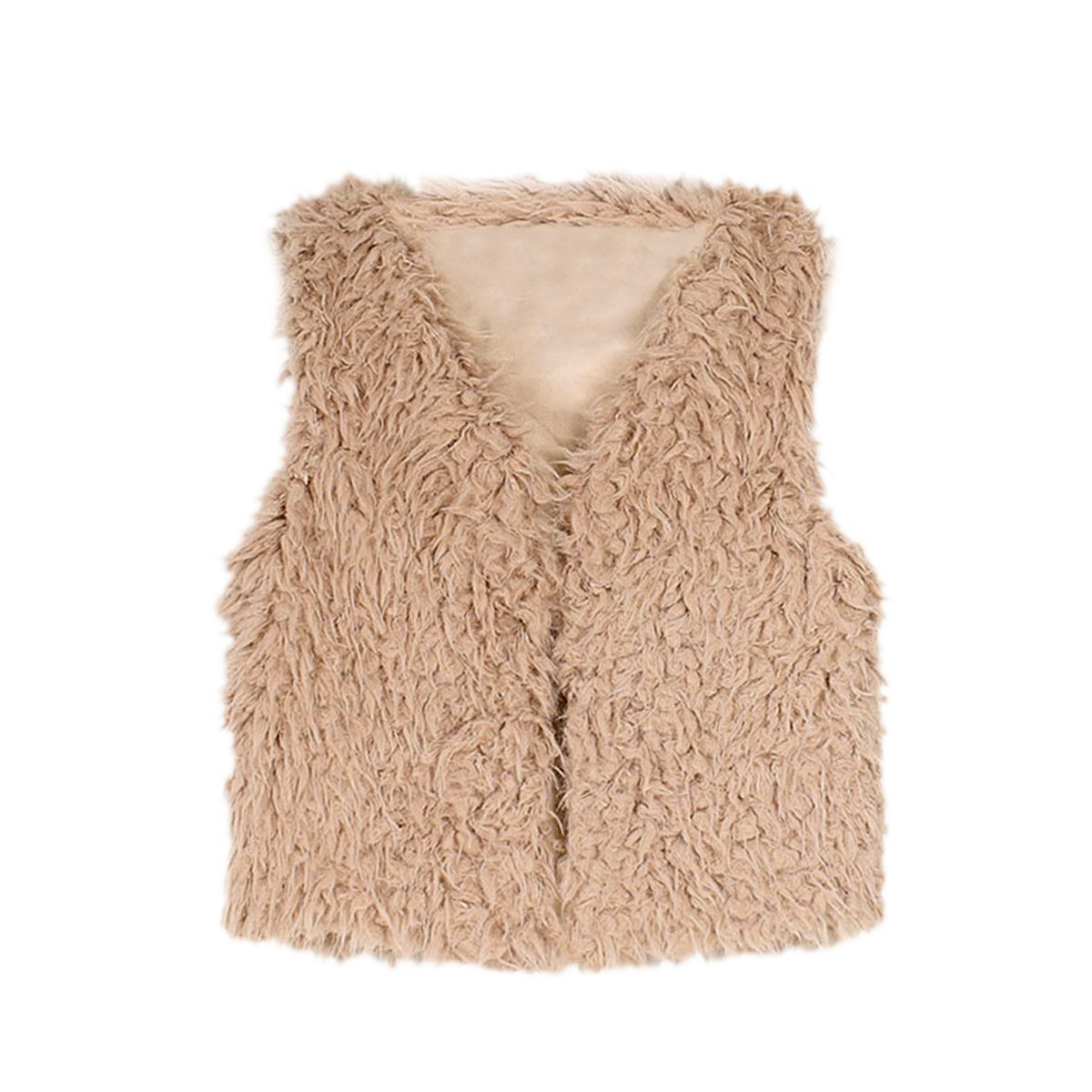 FUNOC Kids Baby Faux Fur Waistcoat Fashion Short Vest Jacket Coat for Girl