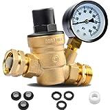 RVGUARD Water Pressure Regulator, Brass Lead-Free Water Pressure Reducer Kit, Adjustable Valve with Inlet Screened…