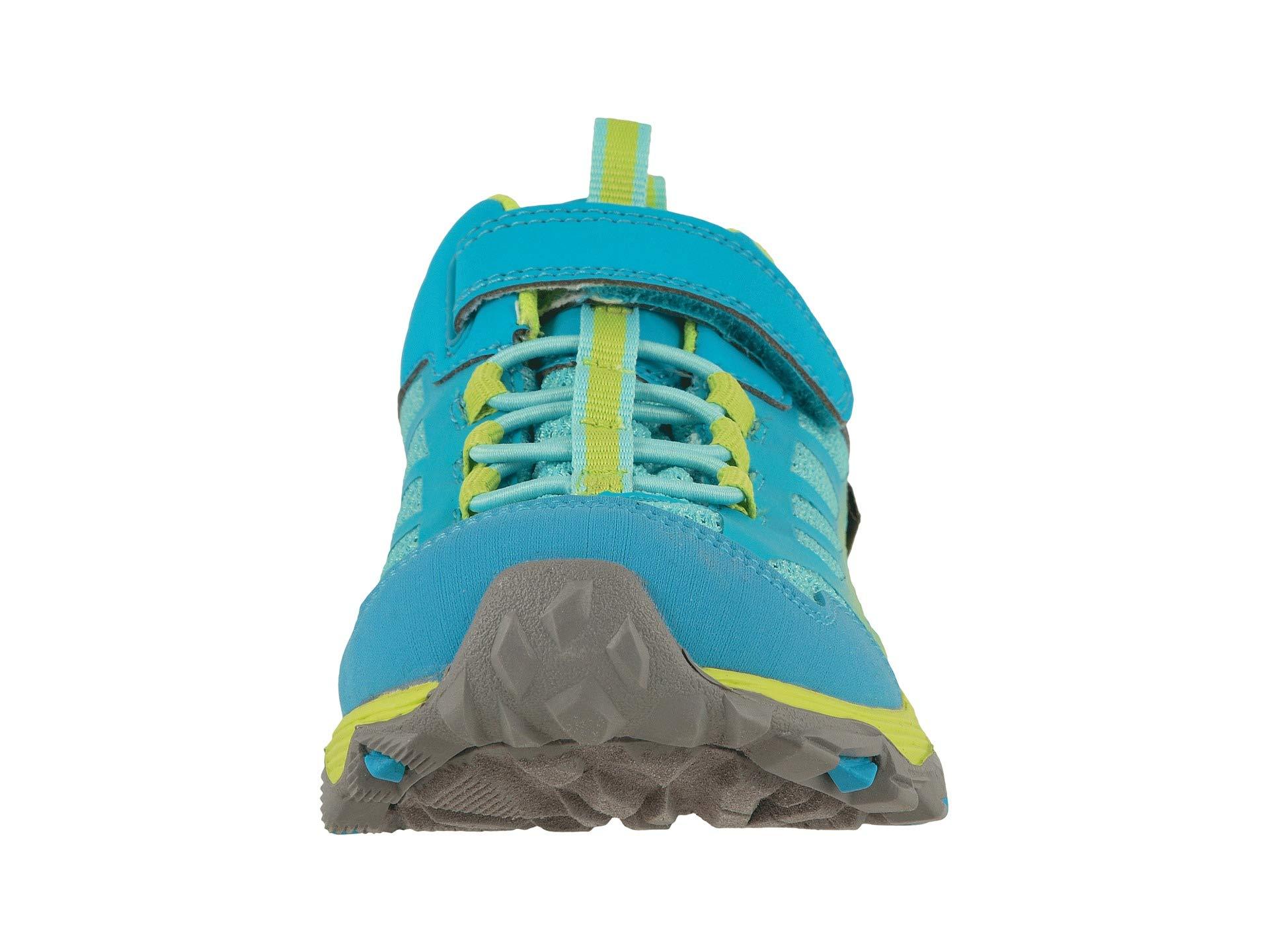 Merrell Girls' Moab FST Low A/C WTRPF Hiking Shoe, Turq/Lime, 13.5 M US Little Kid by Merrell (Image #5)