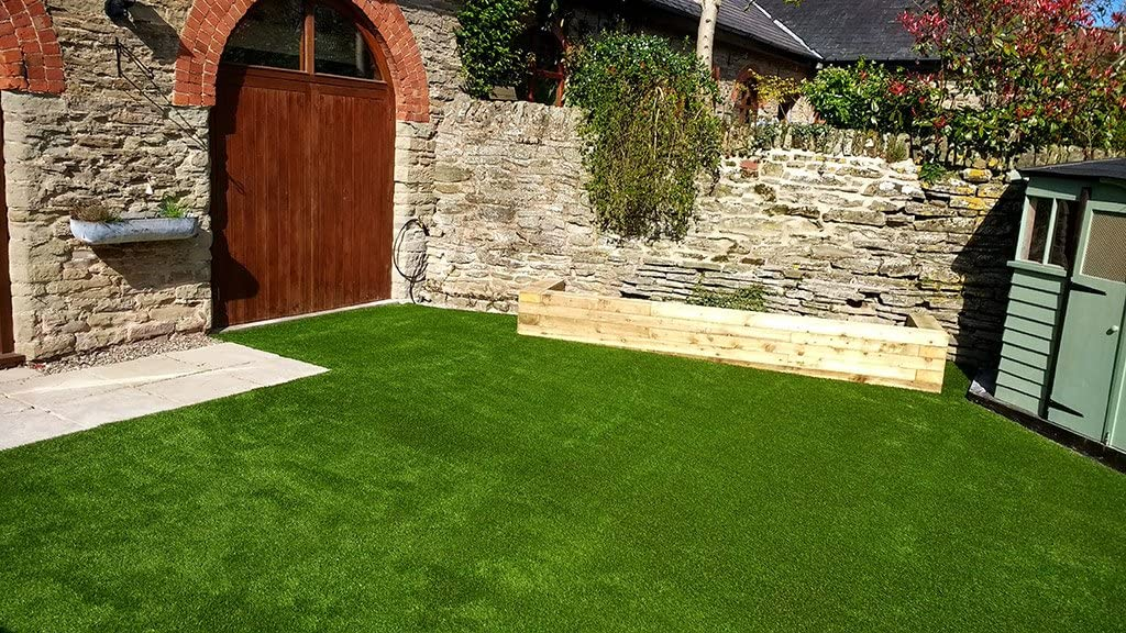Green 2 x 1 m Quickgrass Stratford Luxury Pile Artificial Grass