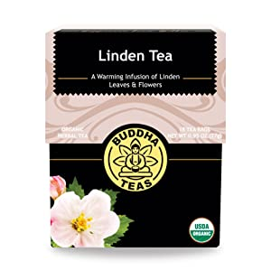 Organic Linden Tea – 18 Bleach-Free Tea Bags – Caffeine-Free Tea, Fresh and Fragrant Herbal Tea with Calming Qualities, Good Source of Nutrients, Vitamins, and Antioxidants, Kosher, GMO-Free