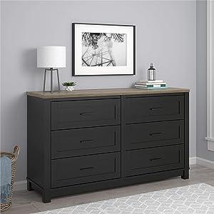 Ameriwood Home Carver Dresser, Black