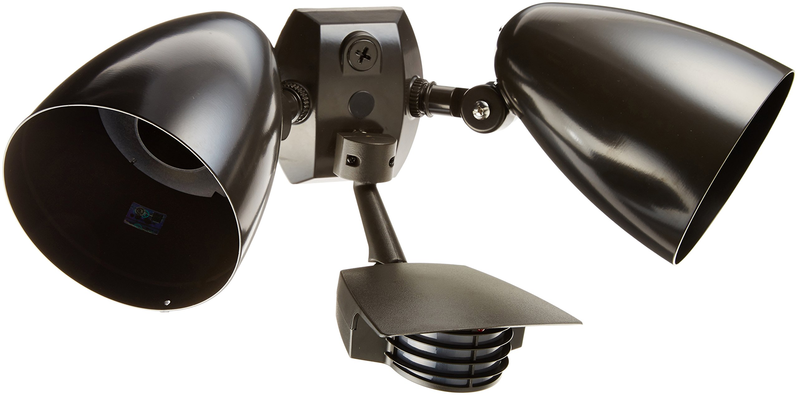 RAB Lighting STL200HB Stealth 200 Sensor with Twin Precision Die Cast HB101 Bullet Floods, Aluminum, 200 Degrees View Detection, 1000W Power, 120V, Bronze Color