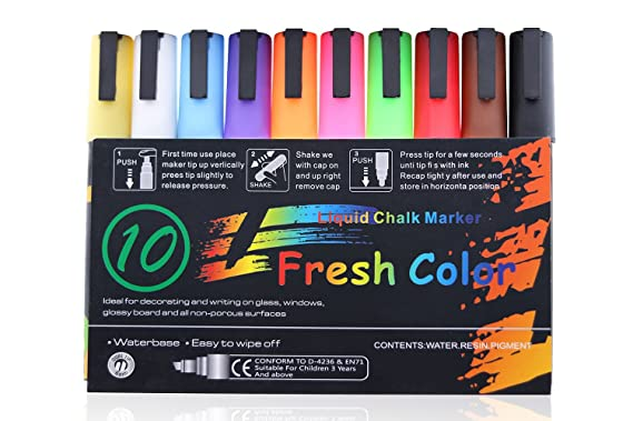 Amazon.com: Rotuladores de gis líquida, color flash color 8 ...