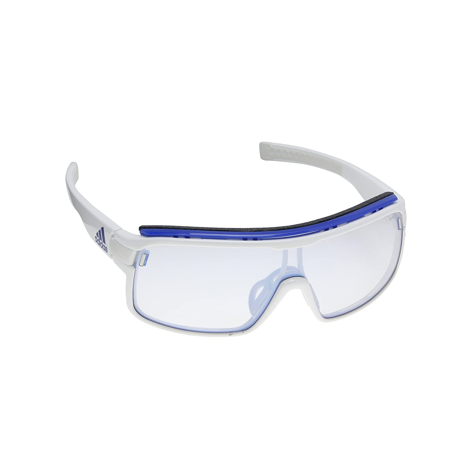 adidas Zonyk Pro L Wrap Sunglasses, White Shiny, 74 mm