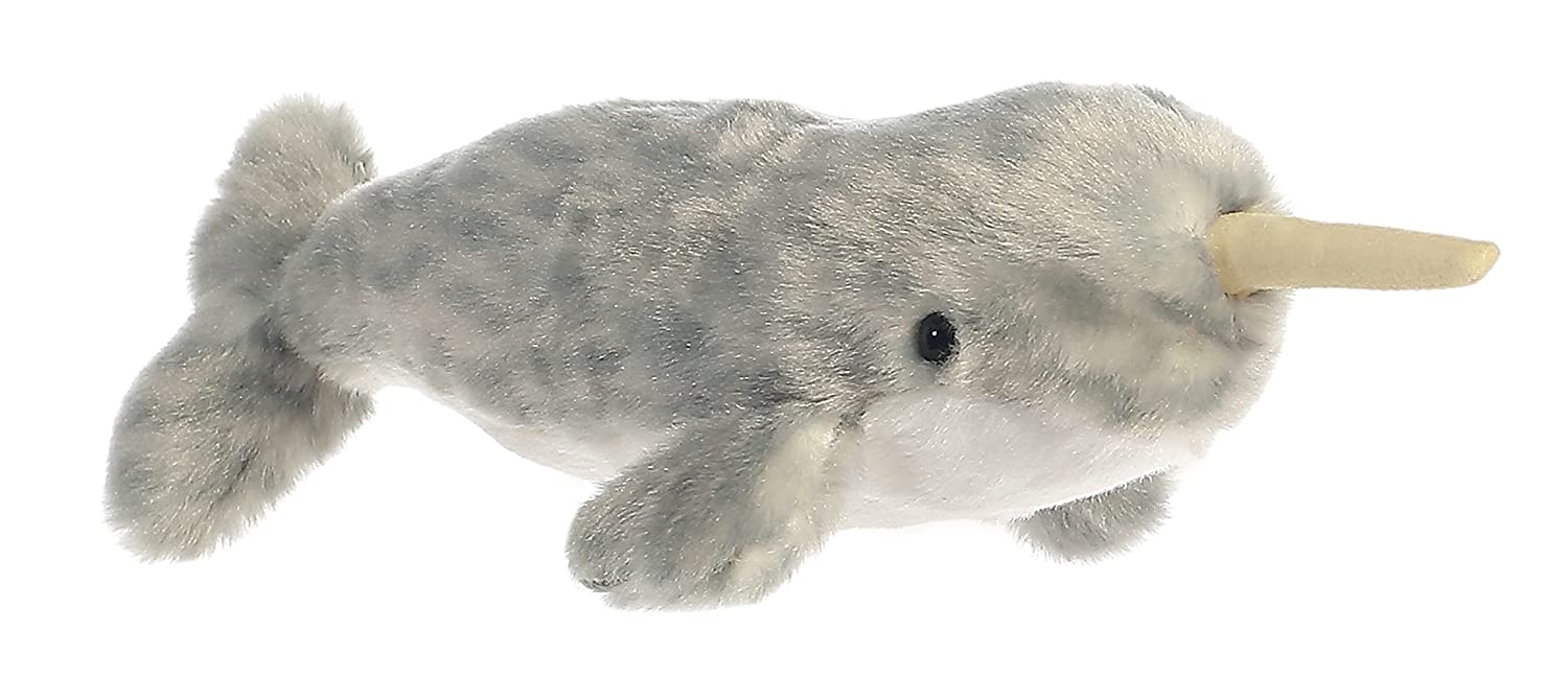 Narwhal Whale 8-Inch Mini Flopsie Stuffed Animal Aurora AW31722