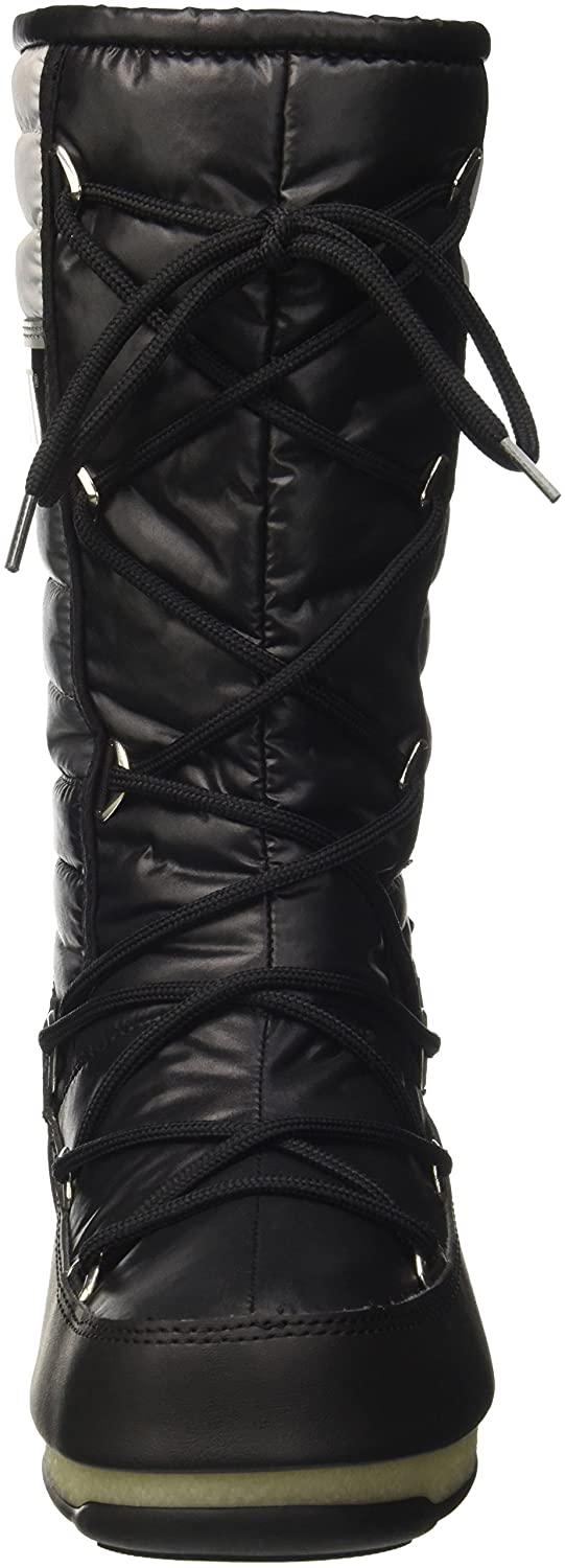 Moon Stiefel Damen W.e. Quilted Quilted Quilted Outdoor- Sportschuhe schwarz-grau 0c3a8b