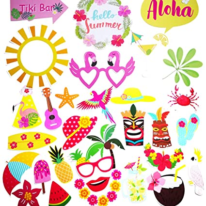 Amazon com: 2019 Luau Party Decorations Photo Booth Props