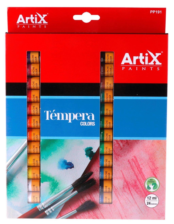 ARTIX Paints pp191–Set di 24colori Tempera Madrid Papel Import