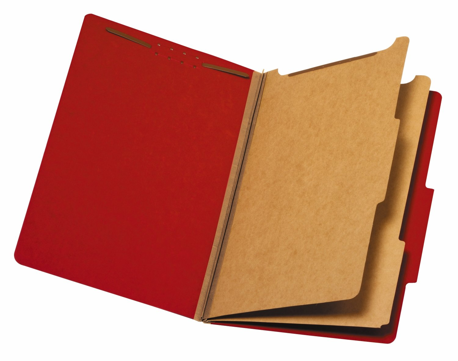 Staples Brightly Colored Classification Folder, 2/5-Cut Tab, 2 Partitions, Each (98728S)