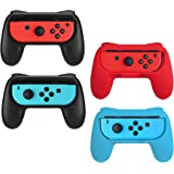 Beastron Joy Con Grips Compatible with Nintendo Switch, Handle Kit for Nintendo Game Switch Joy Con Controller 4 Pack…