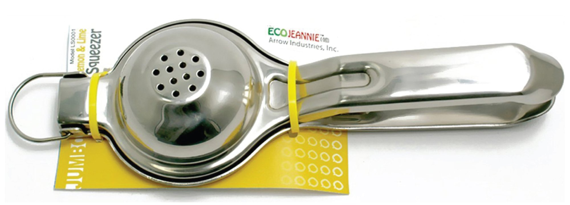 EcoJeannie LS0001 Professional Jumbo Stainless Steel Lemon and Lime Squeezer and Juicer with Free Citrus Tap, 9.25-Inch, Silver by EcoJeannie (Image #5)