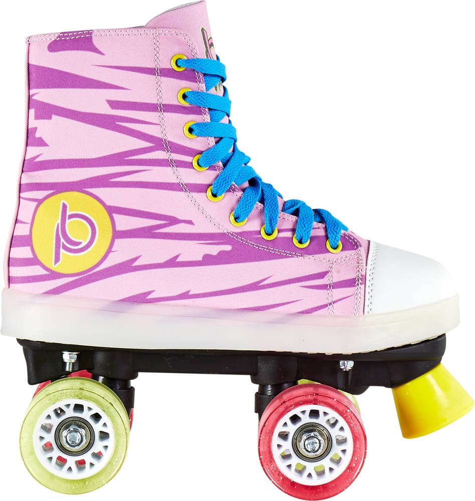 Chaya新しい。Playlife LunaticストライプLED Light Up Quad Skates B0728KZRST EU 34 / US 3