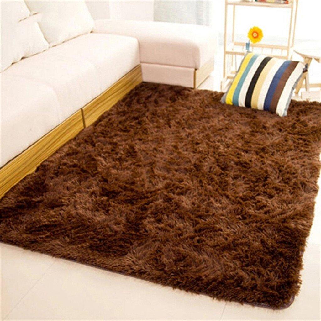 Tappeto morbido rettangolare antiscivolo per la casa, camera da letto, soggiorno, pavimento., Beige, 40*60cm Suberde