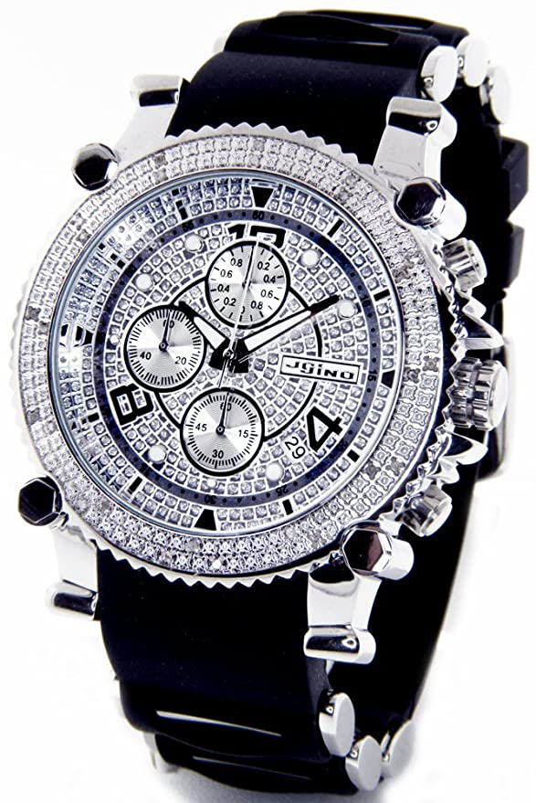 watch luxurman diamond out com watches iced prod mens p src