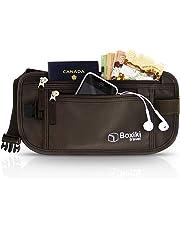 Boxiki Travel Money Belt - RFID Blocking Money Belt | Safe Waist Bag, Secure Belt for Men and Women Fits Passport, Wallet, Phone and Personal Items. Running Belt, Fanny and Waist Pack