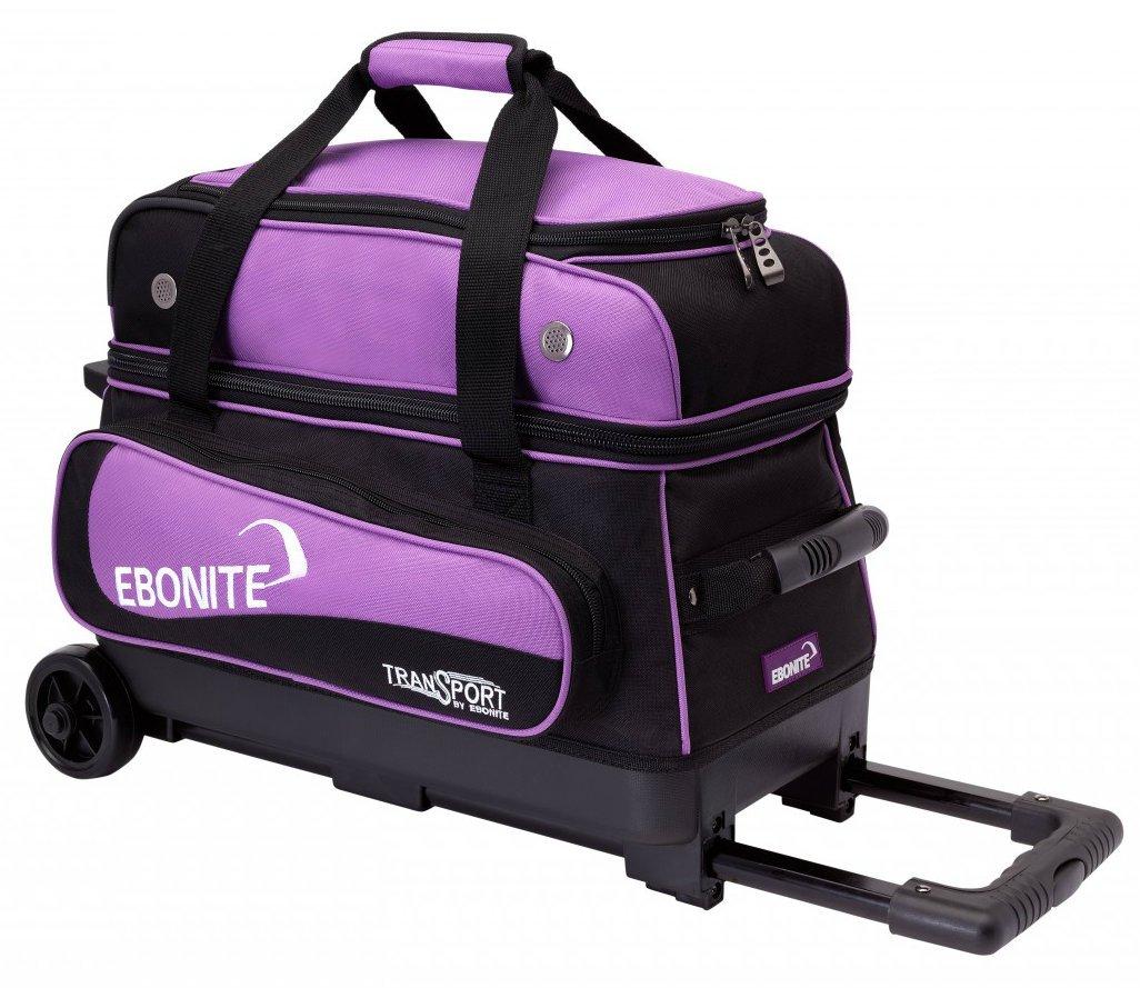 Ebonite Transport II Bowling Ball Bag, Black/Purple by Ebonite