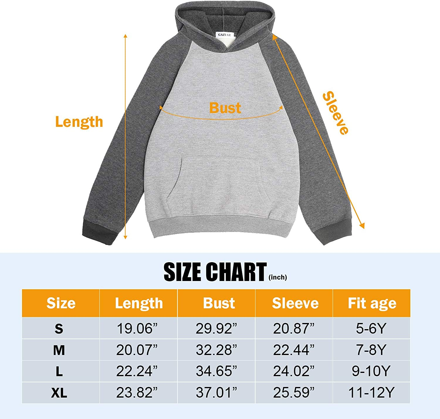 GAZIAR Boys Hoodie Fleece Christmas Sweatshirt Girls Pullover Hood with Pockets