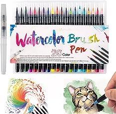 Scorpiuse conjunto de marcadores 20 colores surtidos rotuladores de acuarela para niños y adultos Libros de colorear, cómic, caligrafía