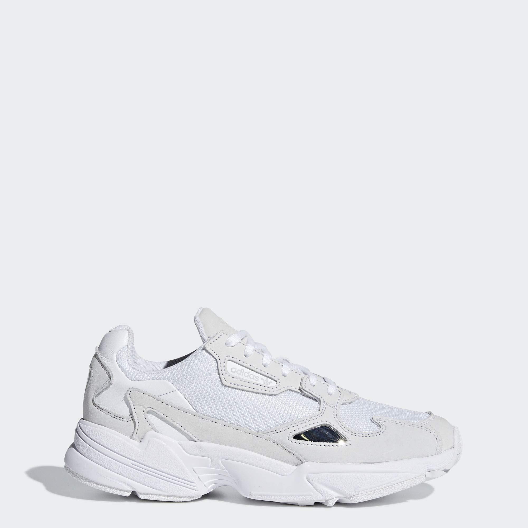 adidas Originals Women's Falcon Running Shoe, Crystal White, 7 M US by adidas Originals