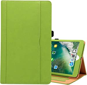 CHAJIJIAO Ultra Slim Case for iPad 9.7 (2018) & iPad 9.7 inch (2017) & iPad Air 2 & iPad Air Cowhide Pattern PC Protective Case(Black) Tablet Back Cover (Color : Green)